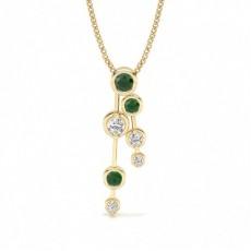 Yellow Gold Journey Diamond Pendants Necklaces