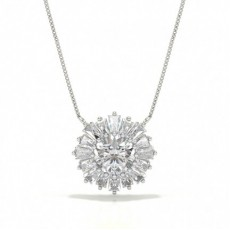 Diamond Circle Prong Studded Pendant