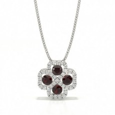 Silver Ruby Diamond Pendants