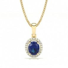 Or Jaune Pendentif Diamant