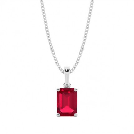 4 Prong Setting Ruby Pendent