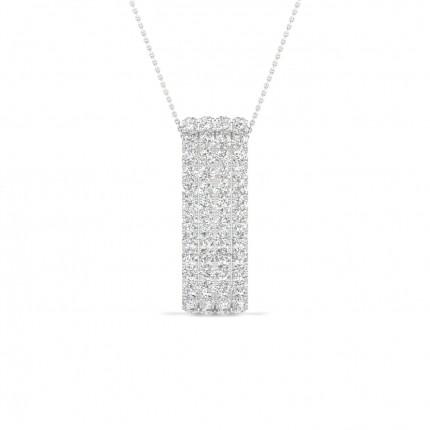 Micro Pave Setting Round Diamond Designer Pendants