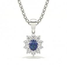 Oval Sapphire Pendants