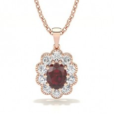 Rose Gold Ruby Pendants