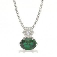 Prong Setting Solitaire Emerald Pendant