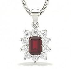 White Gold Ruby Pendants
