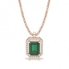 Rose Gold Emerald Pendants