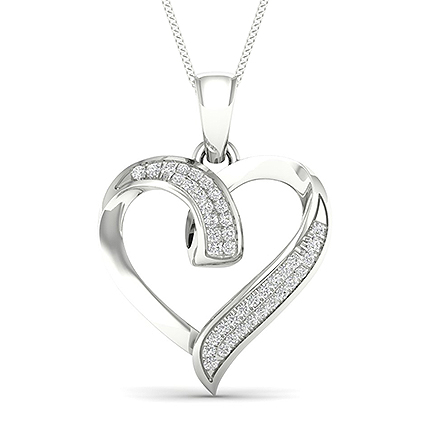 Micro Pave Diamond Heart Pendant
