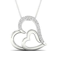 Round Heart Pendants