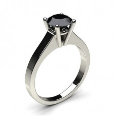 4 Prong Setting Medium Engagement Black Diamond Ring (Available from 0.50ct. to 2.00ct.)