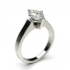 White Gold Round Diamond Engagement Ring - CLRN1_02