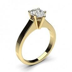 Pear Yellow Gold Classic Solitaire Diamond Engagement Rings