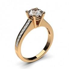 Diamant Verlobungsring in einer Krappenfassung mit medium Schulter Diamanten - CLRN1_11