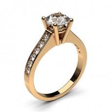 Diamantring in einer Krappenfassung mit medium Schulter Diamanten - CLRN1_12