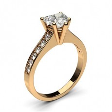 Heart Rose Gold Diamond Engagement Rings