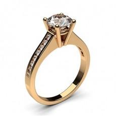 Diamant Verlobungsring in einer Krappenfassung mit medium Schulter Diamanten - CLRN1_09