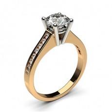 4 Prong Setting Medium Side Stone Engagement Ring - CLRN1_09