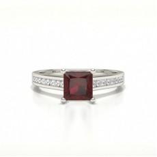 Princess Ruby Engagement Rings