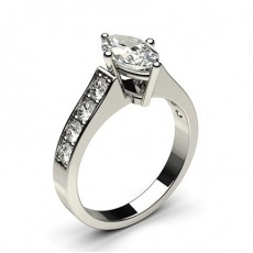 4 Prong Setting Large Side Stone Engagement Ring - CLRN1_08