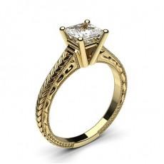 Prinzessin Gelbgold Vintage Verlobungsringe