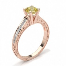 Cushion Rose Gold Engagement Rings