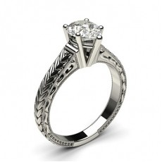 Pear White Gold Engagement Rings