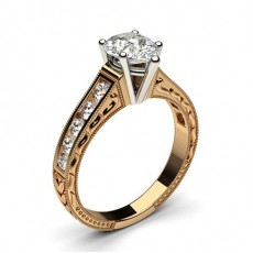 4 Prong Setting Large Studded Engagement Ring - CLRN1_14