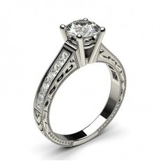4 Prong Setting Large Studded Engagement Ring (Available from 0.20ct. to 3.00ct.)