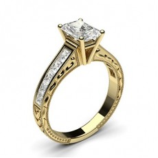 Radiant Yellow Gold Diamond Rings