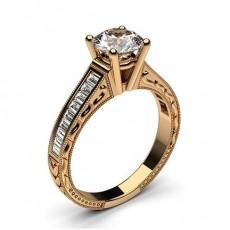 Diamant Verlobungsring in einer Krappenfassung mit großen Schulter Diamanten - CLRN1_13