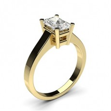 Radiant Yellow Gold Classic Solitaire Diamond Engagement Rings