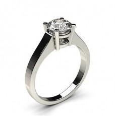 Bague de fiançailles standard solitaire diamant serti 4 griffes profil d - CLRN2_02