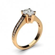 Diamant Verlobungsring in einer Krappenfassung mit medium Schulter Diamanten - CLRN2_09