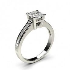 4 Prong Setting Medium Side Stone Engagement Ring - CLRN2_10