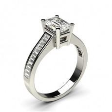 Emerald Side Stone Diamond Engagement Rings