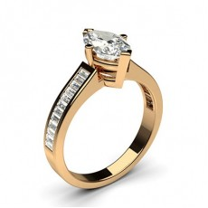 Marquise Rose Gold Side Stone Engagement Rings