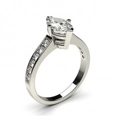 4 Prong Setting Medium Side Stone Engagement Ring - CLRN2_12
