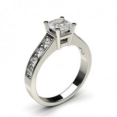 4 Prong Setting Large Side Stone Engagement Ring - CLRN2_08