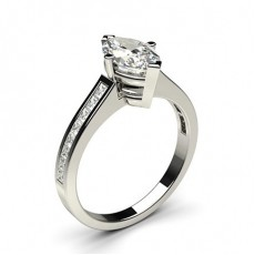 4 Prong Setting Medium Side Stone Engagement Ring - CLRN2_11