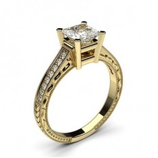 Diamantring in einer Krappenfassung mit medium Schulter Diamanten - CLRN2_20