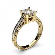Diamantring in einer Krappenfassung mit medium Schulter Diamanten - CLRN2_17