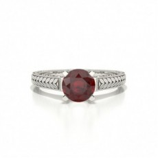 Round Ruby Rings