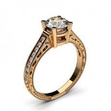 Diamantring in einer Krappenfassung mit medium Schulter Diamanten - CLRN2_19