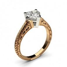 4 Prong Setting Medium Plain Engagement Ring - CLRN2_04