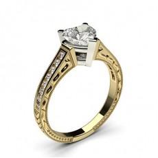 4 Prong Setting Medium Studded Engagement Ring - CLRN2_19