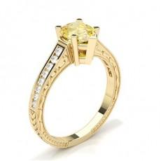 Tropfen Gelbgold Gelber Diamant Verlobungsringe
