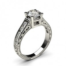 4 Prong Setting Large Studded Engagement Ring - CLRN2_14