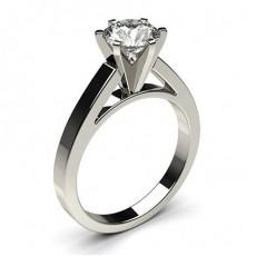 Bague de fiançailles standard solitaire diamant serti 6 griffes carrées - CLRN6_02
