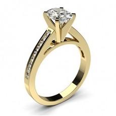 Diamantring in einer Krappenfassung mit medium Schulter Diamanten - CLRN6_08