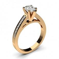 Diamant Verlobungsring in einer Krappenfassung mit medium Schulter Diamanten - CLRN6_09